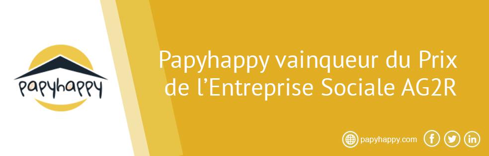 Papyhappy vainqueur du Prix de l'Entreprise Sociale AG2R La Mondiale
