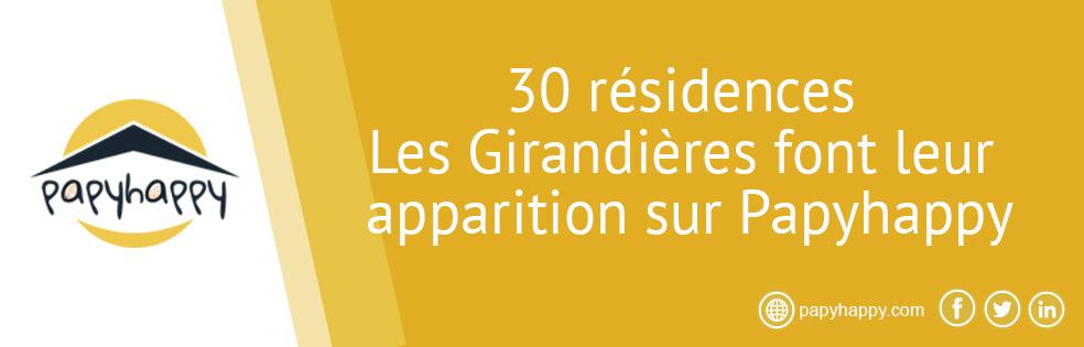 30 résidences Les Girandières font leur apparition sur Papyhappy