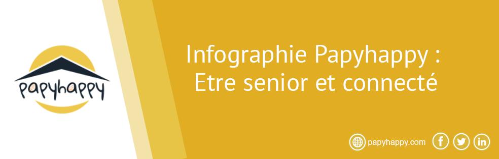 Infographie :  Être senior et connecté