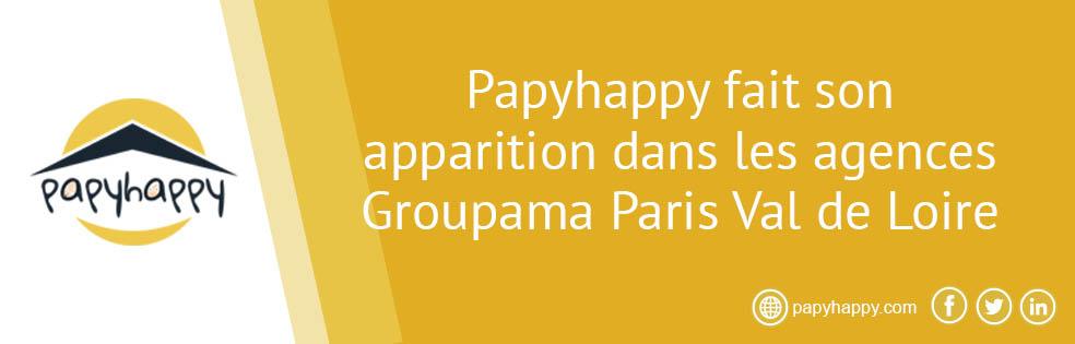 Papyhappy fait son apparition dans les agences Groupama Paris Val de Loire