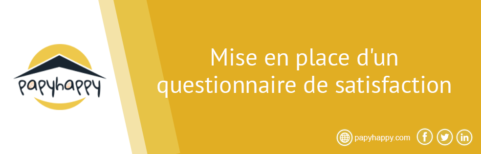 Mise en place d'un questionnaire de satisfaction