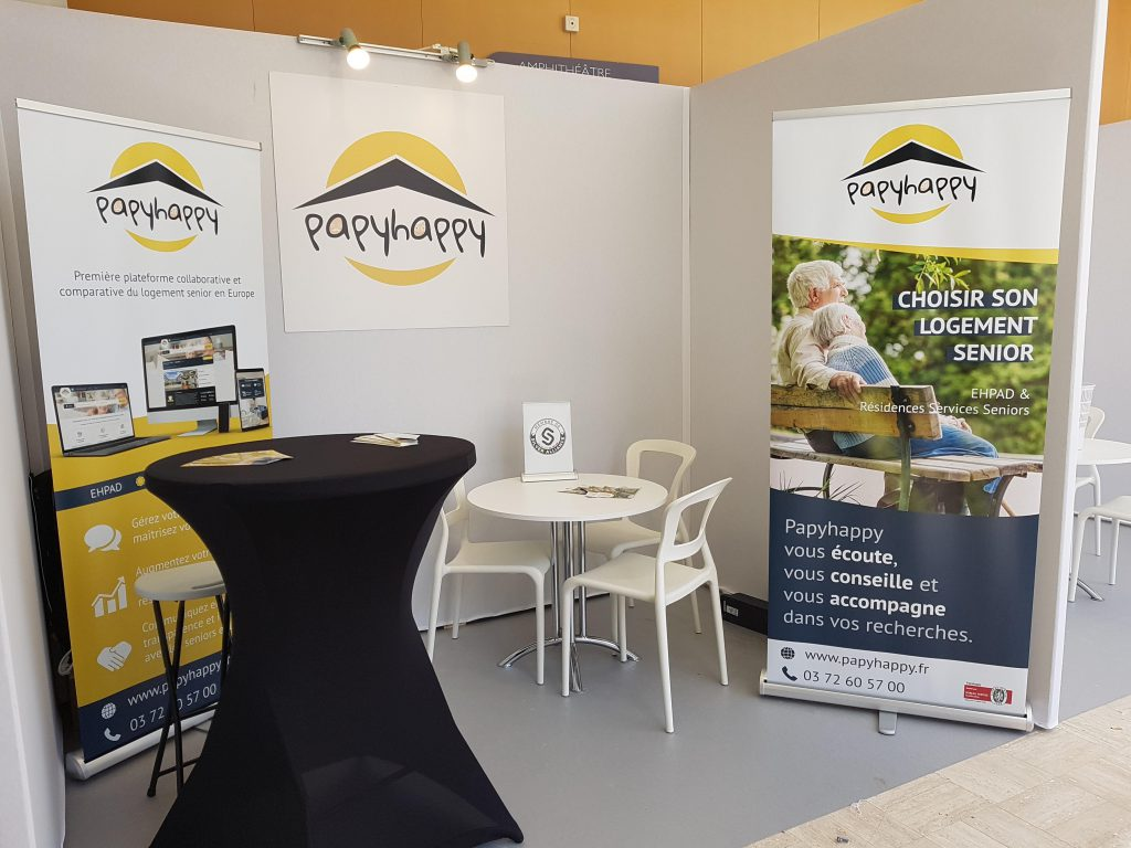 Stand Papyhappy, 19ème congrès SYNERPA